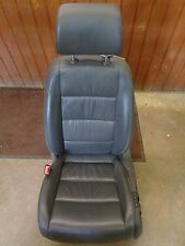 05 06 VW JETTA MK5 SEDAN OEM LEFT LH FRONT BUCKET SEAT POWER LEATHER GRAY W/BAG