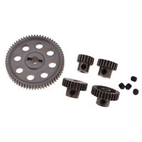 Metal Spur Diff Main Gear & Motor Pinion Cogs for HSP 1/10 RC Car Parts