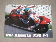 """VINTAGE très rare MV AGUSTA MV Augusta F4 affiche de ROB """"Frosty"""" Frost à Monza"""