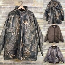 Vtg Walls Quilted Realtree Camo Hunting Jacket sz L Quarpel Water Resistant USA