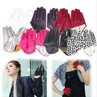 Sexy Women's Half Palm Half Five Finger Warm Party Gloves Mittens Faux Leather