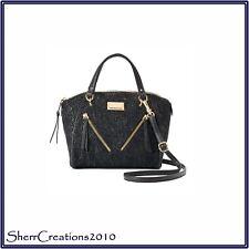 NWT Juicy Couture Diagonal Zipper Satchel Crossbody Bag Black Lace#180722-407