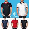 Homme Maserati Polo Shirt COTON Auto Voiture Logo Brodé T Shirt Tee vêtements