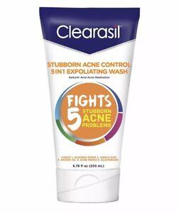 Clearasil Stubborn Acne Control 5 In 1 Exfoliating Wash 6.78 oz