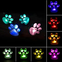 Ee _ Impermeable Animal Pawprint Lámpara LED Solar Jardín Yarda Suelo Vereda L