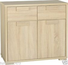 Light Oak Effect 2 Door 2 Drawer Sideboard W80.5cm x D39cm x H75.5cm CAMBRIDGE
