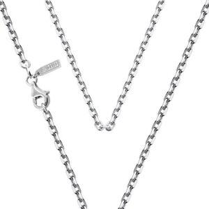 """SOLID 925 STERLING SILVER CHAIN NECKLACE CABLE 24"""" LONG 2.6MM ITALY VENICEBEE®"""