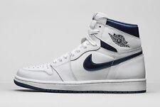 Nike Air Jordan 1 Retro High OG 555088-106 White/ Midnight Navy NEW Men's 10 US