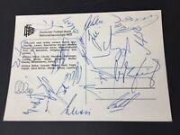 WM 1970 DFB signed 23 x signiert Mexico 70 DFB-Autogrammkarte 10 x 15 RARITÄT!!!