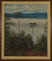 Vinson - Framed Mid 20th Century Oil, Tropical Landscape