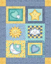 "1 ""Goodnight Moon and Stars"" Baby Panel Fabric"
