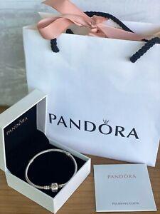 PANDORA Moments Snake Chain Bracelet Charm Bracelet 20cm Sterling Silver New