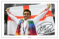 Tom Daley champion du monde de plongée signé imprimé photo