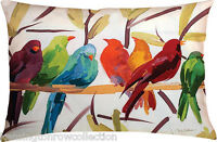 "PILLOWS - BIRDS OF A FEATHER INDOOR OUTDOOR PILLOW - 24"" X 18"" - BIRD PILLOW"