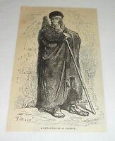 1877 magazine engraving ~ A CATTLE-DROVER OF CORDOVA