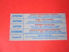 AUTOCOLLANT LIQUIDE DE  REFROIDISSEMENT  20°  PEUGEOT  405