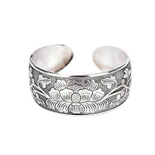 Beautiful New Tibetan Tibet Silver Totem Bangle Cuff Peony Bracelet Jewelry OZ