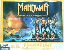 MANOWAR  1987  FRANKFURT  ++  Original Concert Poster  - Tour Poster     NEU