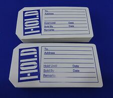 Qty. 200 Hold Tags with Slit Merchandise Price Tags Blue / White