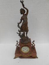 horloge pendule garniture de cheminee marbre et regule le chardon d apres barian