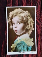 SHIRLEY TEMPLE  FILM STAR   VALENTINE  PHOTO POSTCARD    VG   #7190