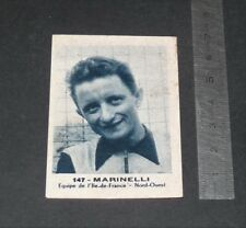 CHROMO PHOTO SPORT 1950-1955 PRODUITS CIBON CYCLISME MARINELLI FRANCE PERRUCHE