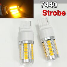 Strobe Front Turn Signal T20 7440 7441 33SMD Amber LED Light Bulb K1 HAK