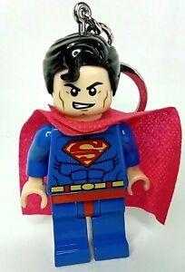 FIGURINE porte clés LED Lego ninja Superman DC comics lampe fonctionne 8 cm