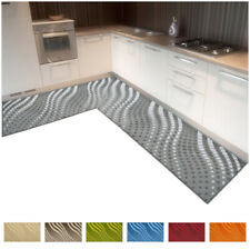 Tappeto cucina TESSITURA 3D angolare o passatoia su misura bordata mod.CLELIAD