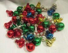 VINTAGE 46 Christmas Feather Tree Ornaments - Bells & Balls - Mercury Glass