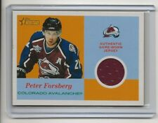 01-02 2001-02 Topps Heritage Authentic Game Worn Jerseys #JPF Peter Forsberg