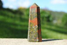 Unakite Polished Point ~ 80cm - 72 Grams ~ Natural Polished Unakite Crystal