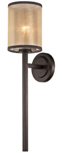 Elk Diffusion 1-light Wall Sconce - Oil Rubbed Bronze, 57023/1 Organza Shade