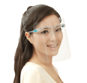 3 Pack Clear Plastic Face Shield Safety Protection Visor w/Plastic Film Glasses