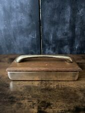 Vintage Ben Seibel Jenfred Ware Mid Century Modern Decorative Brass & Wood Box