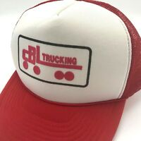 Vintage CBL Trucker Hat Adjustable Snapback Baseball Cap White Red Foam Mesh
