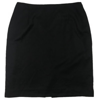FLETCHER JONES WOMAN | 100% Pure Wool Lined Skirt | Plus Size | Black | Size: 18