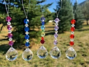 "Swarovski Crystal  Suncatcher, 4.5"" Car charm accessory Tree  Ornament, ❤"