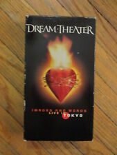 DREAM THEATER IMAGES & WORDS LIVE IN TOKYO VHS vtg Concert Video Music Progress