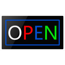17×9� Flashing Motion Led Business Sign Open Neon Display Light Shop Bar Coffee
