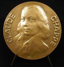 Medal Claude Chappe inventor Telegraph aerial sémaphore telecommunication