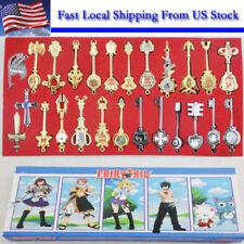 24pcs Cosplay Fairy Tail Lucy Celestial Spirit Gate Keys Necklace Pendant Set