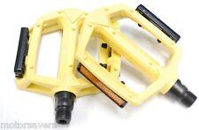 GIALLO WELLGO metallo BMX/Pedali ATB/Fixie - 9/16 (3 pezzo manovella)