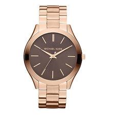 Michael Kors MK3181 Vintage Runway Acero Inoxidable Tono Oro Rosa Mujer Reloj