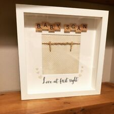 Handmade scrabble photo frame, Mummy, Daddy to be, baby scan picture shower gift