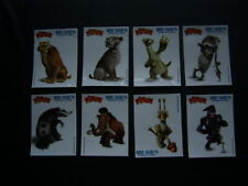 PASQUIER PITCH 2012 ~  ICE AGE 4 Sticker Card Set of 8 Glow in the  Dark (E19)