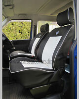 VW Transporter T4 Waterproof Tailored Van Captain Seat Covers Black & White
