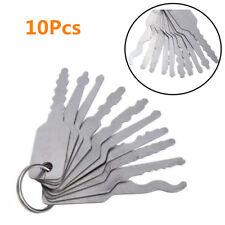 10Pcs Silver Emergency SUV Car Access Door Locks Opening Easy Keys Hand Tool Kit