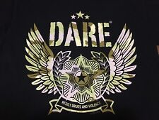 DARE To Resist Drugs And Violence Camouflage Wing Eagle Small T Shirt Punk Rock