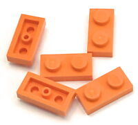 Lego 5 New Orange 1 x 2 Dot Plates Building Bricks Pieces